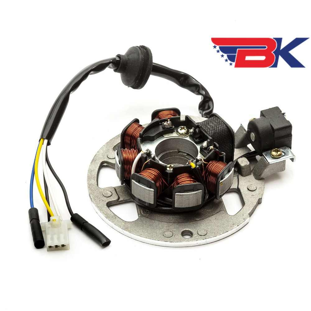 stator magneto generator 5 wire for 2 stroke scooter yamaha minarelli chinese 50cc 90cc atv buggy [ 1000 x 1000 Pixel ]