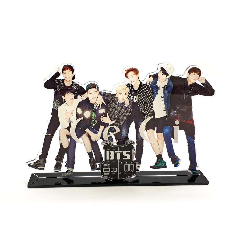 Love Thank You BTS Bangtan Boys KPOP stars group family acrylic stand figure model plate holder cake topper idol