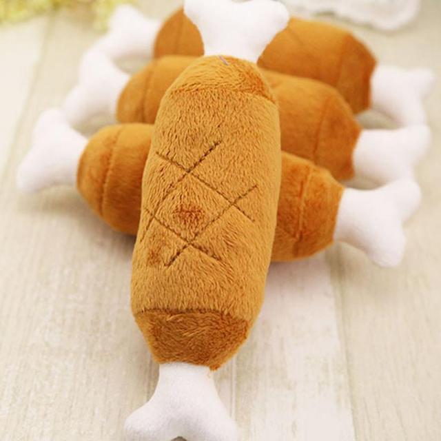 Hot Velvet Pet Dog Cat Chicken Legs Plush Tosy Interactive Sound Toys Pet Supplies Dog Plush 3