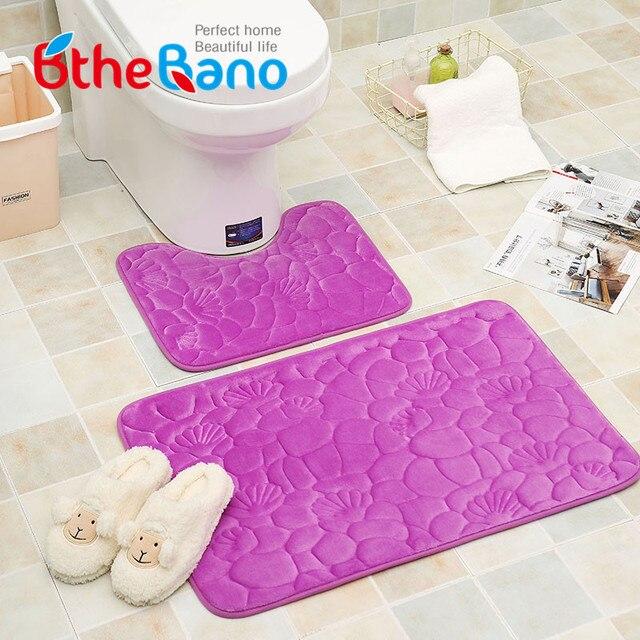 2 шт./компл. seashell дизайн фланель Этаж коврик для ванной ковер Набор Нескользящей Toliet коврик для ванной 40*50 + 50*80 см ванная комната ковер коврик