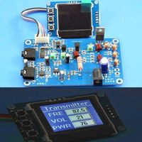 5W FM Transmitter Radio Station PLL Stereo MAX Power 7W Digital Frequency KITS Lcd Digital Display