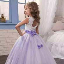 New Girl Lace Wedding Birthday Party Dress Long Evening Princess Costume Flower Girl Dresses Kids Frocks Clothes for Teens Girls(China)