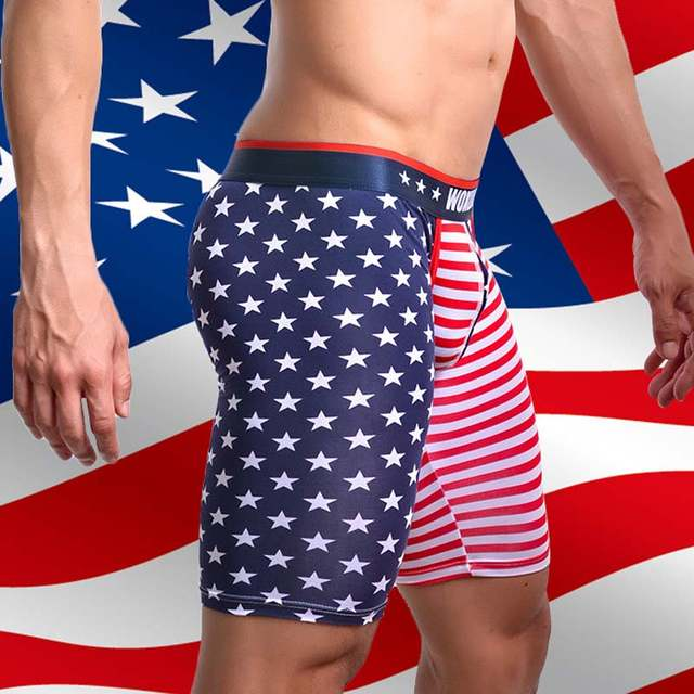 9a09cfe9089 Online Shop Men Sexy Slim Fit Cotton Board Shorts Fashion 2018 American  Flag Pajama Pants Gay Lounge Pants Sleep Bottoms Mens Shorts Homens