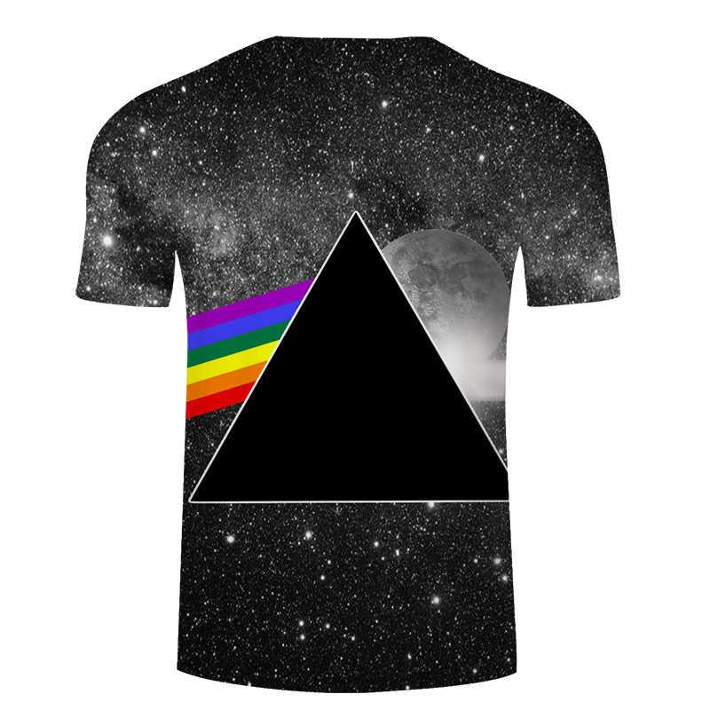 Футболка с рисунком капающего космоса, лето 2018, готический стиль, Забавный принт, галактика, космос, льется молоко, 3d футболка, Повседневная футболка с коротким рукавом, футболки, S-6XL
