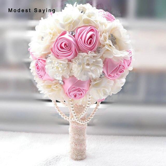 Aliexpress buy romantic pink artificial flowers wedding romantic pink artificial flowers wedding bouquets 2017 lavender bridal bridesmaid bouquet wedding accessories bouquet de mariage mightylinksfo