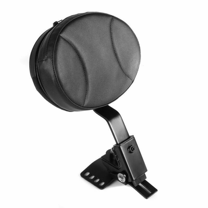 KEMiMOTO Motorcycle Plug-in Driver Rider Backrest Kit For Street Electra Glide Road King 1997-2018 Black