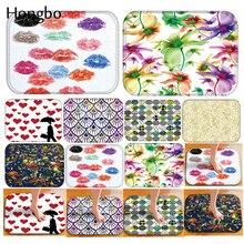 Hongbo Doormat Kitchen Carpet Anti-Slip Nordic Style Heart Lips Flower Polyester Bathroom Floor Dustproof Mats