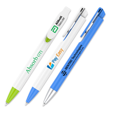 200 pcs/lot custom printing click action plastic ballpoint pens for writing promotional
