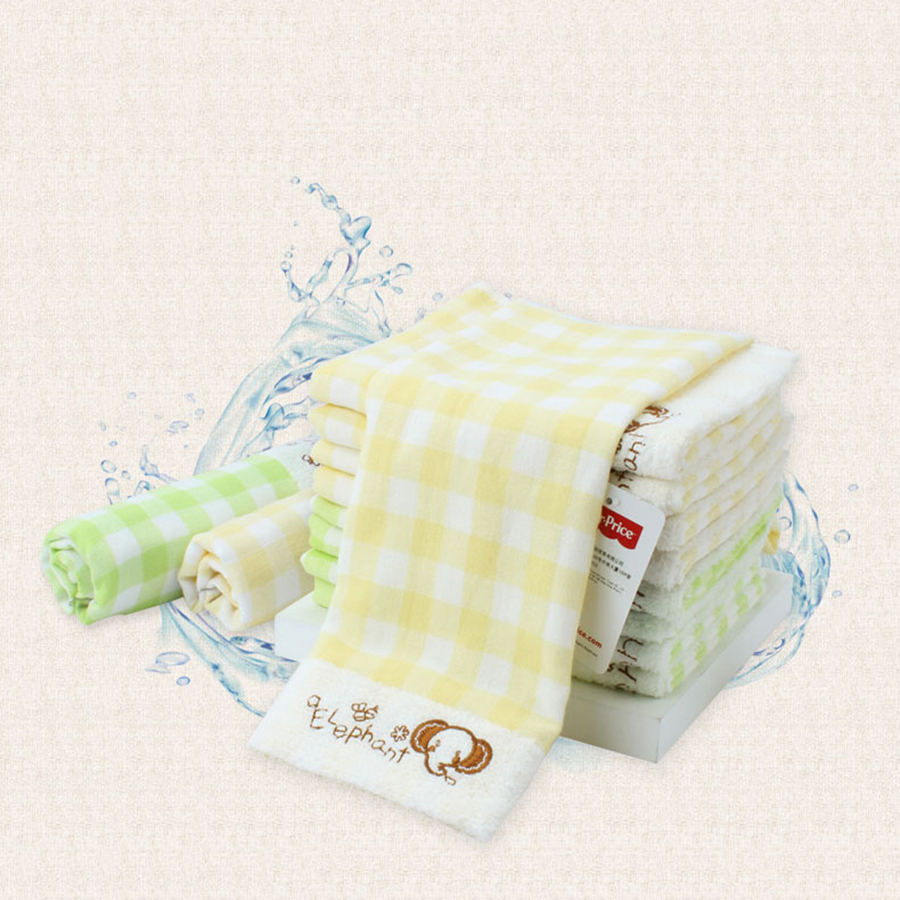 Soft Cotton Baby Towel Newborn Gauze Washcloth Cute Luxury Lattice Absorbent Wipes Bath Towel Baby Bibs Cotton Cute 70A0209