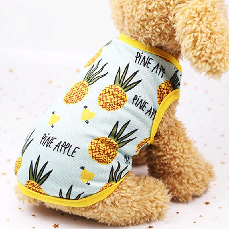 Милые летние собаки жилет для маленьких собак питомцев кошка летнее платье Пляжные наряды для собак Soft Puppy Dog Костюмы фруктов одежда a4