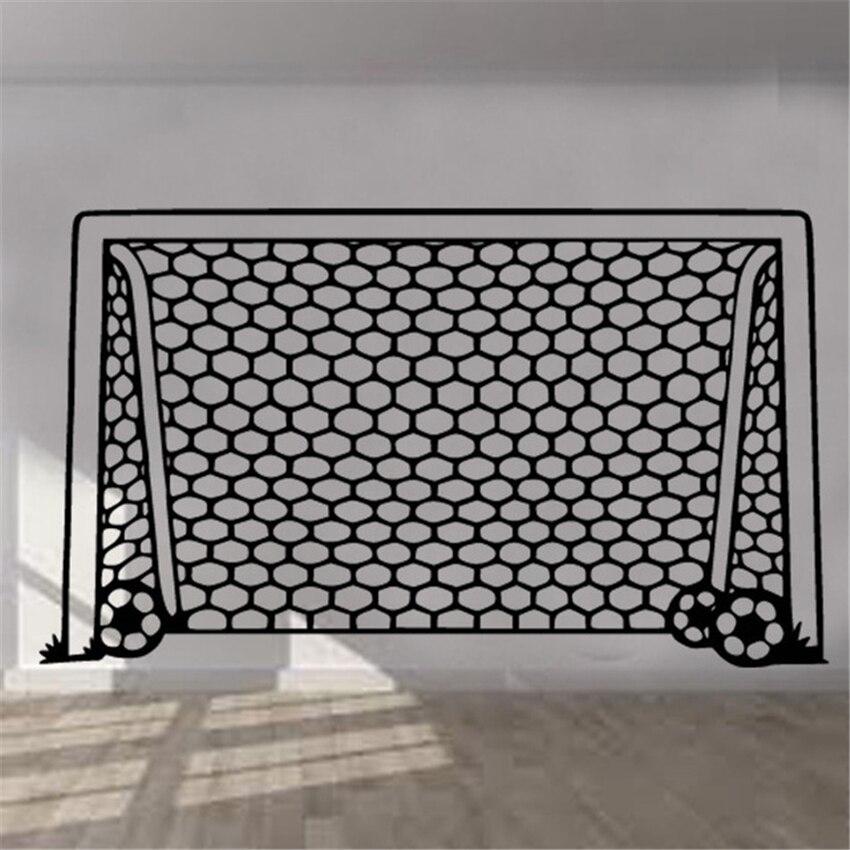 Adesivo autocollants De Parede Football but Net mur autocollant Art enfants chambre garçons filles décor vinyle Mural chambre salon maison D205