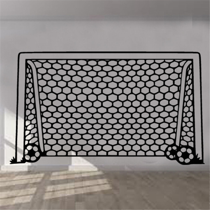 Adesivo de parede adesivos futebol objetivo net arte crianças sala meninos meninas decoração vinil mural quarto sala estar em casa d205