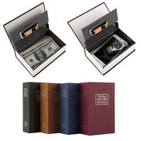 Book Safes Simulation Dictionary Secret Metal Steel Cash Secure Hidden Piggy Bank Money Jewelry Storage Collection