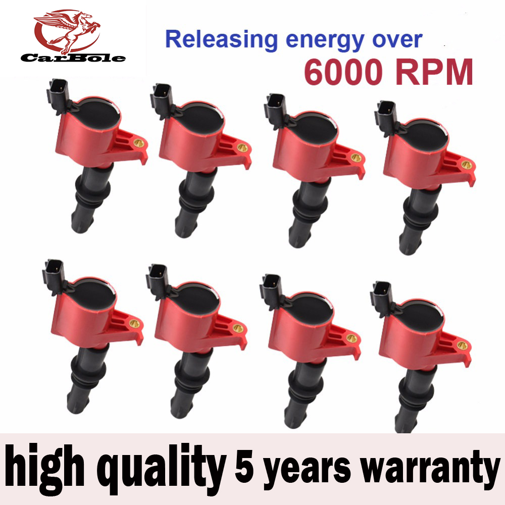CARBOLE 8 pcs High Performance Ignition Coils For Ford Lincoln MERCURY 4.6 5.4L V8 2004-2008 DG511GH