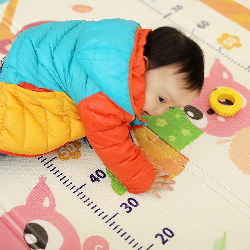 Tapis de jeu brillant pour bébé XPE Puzzle tapis pour enfants épaissi 1.5m * 2m * 1cm tapis rampant pour chambre de bébé tapis pliant pour bébé - 3
