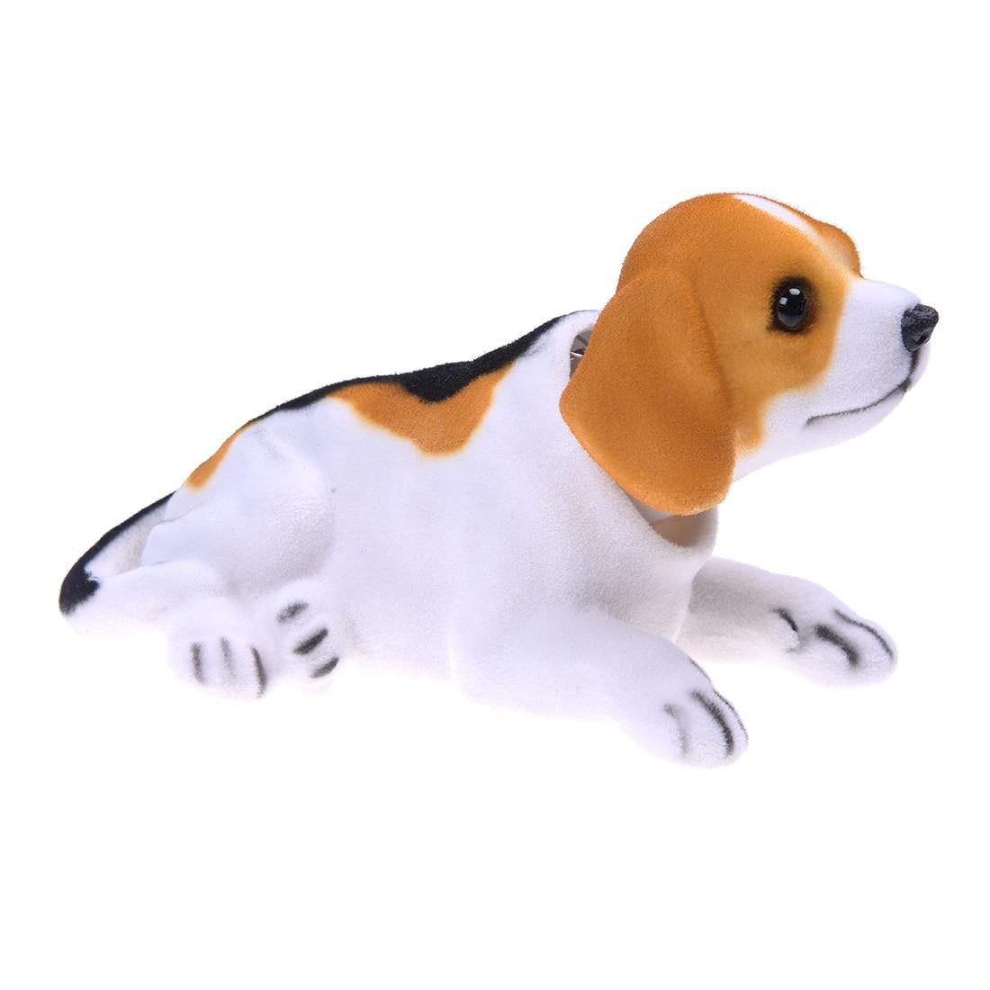 Авто-Авто салона автомобиля, белый, черный, качает головой Bobble собака