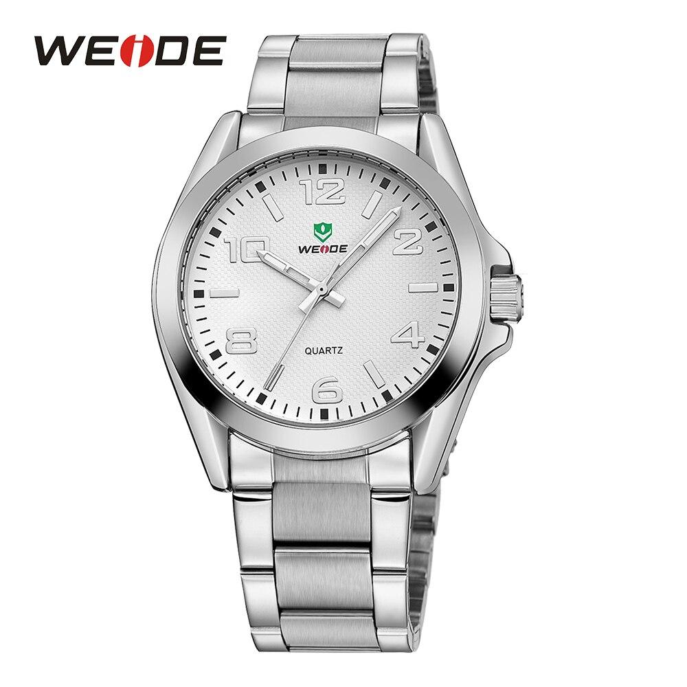 WEIDE Бизнес Спорт Повседневное аналоговый Для мужчин Дата кварцевые Нержавеющаясталь ремешок на запястье военные часы Relogio Masculino часы horloges