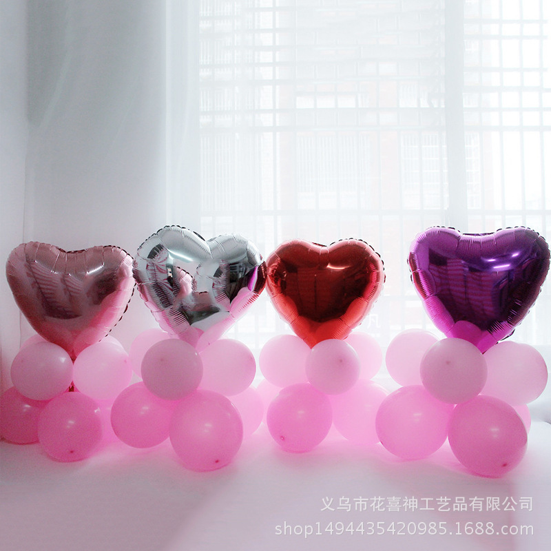 Mixed Color Heart/Star Foil Balloon + Pink Latex Balloon Wedding Party Decoration Balloons Set Kids Birthday Favors 36pcs/lot