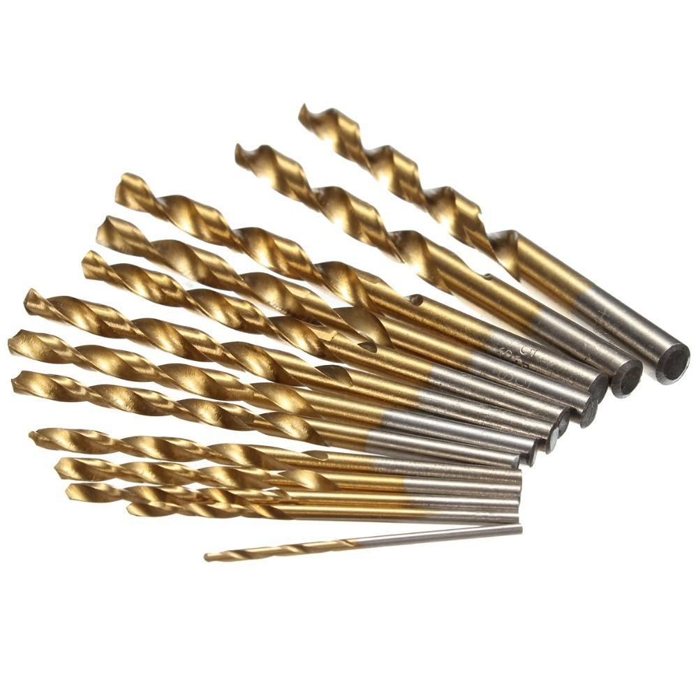 Herramientas Sale New Woodworking Tools Taladro 13pcs 1.5-6.5mm Hss Titanium Twist Drills Set Straight Shank Spiral Drill 10pcs set new 1mm 2mm 3mm micro hss straight shank twist drilling bits set hand drill for woodworking tools