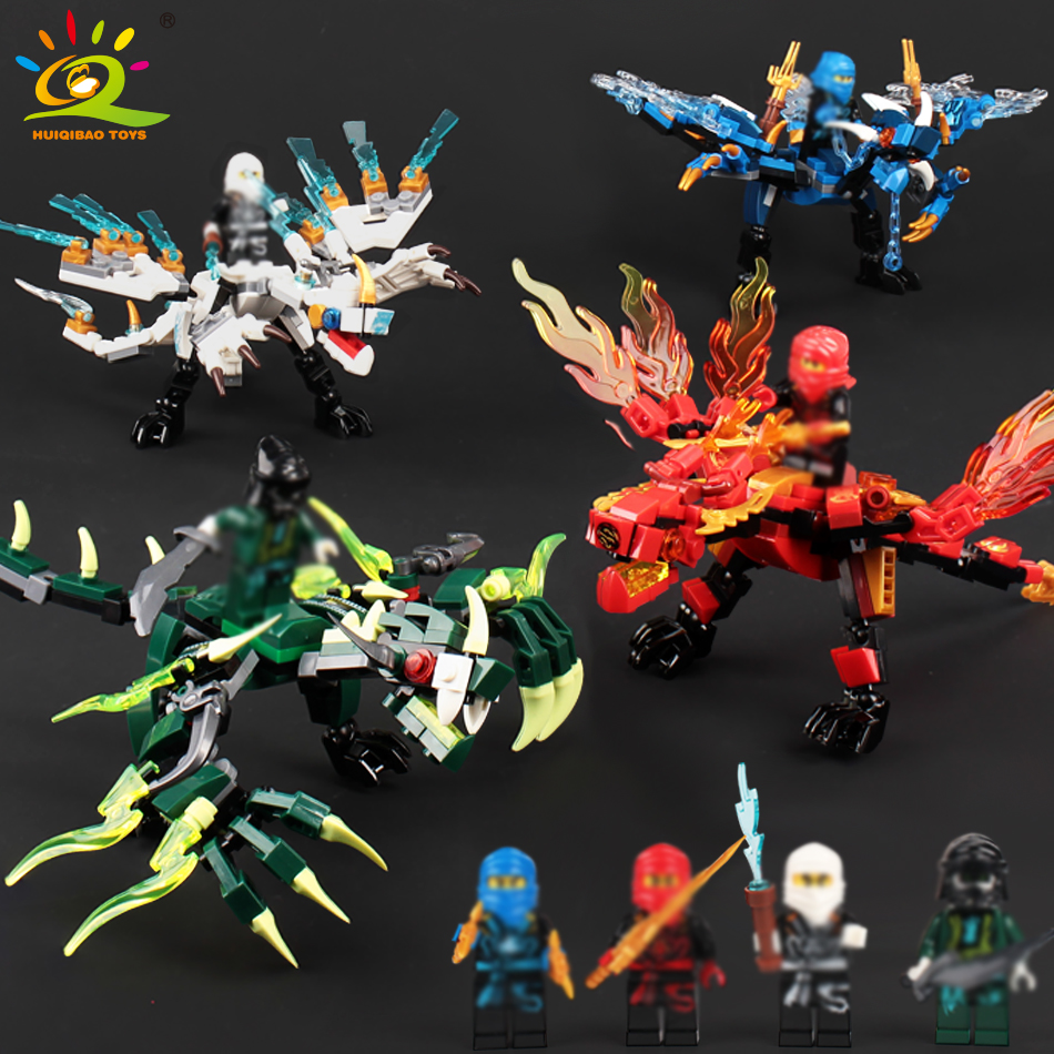 115pcs+ ninja dragon knight building blocks enlighten toy for children Compatible legorreta Ninjagoes DIY bricks for boy friends