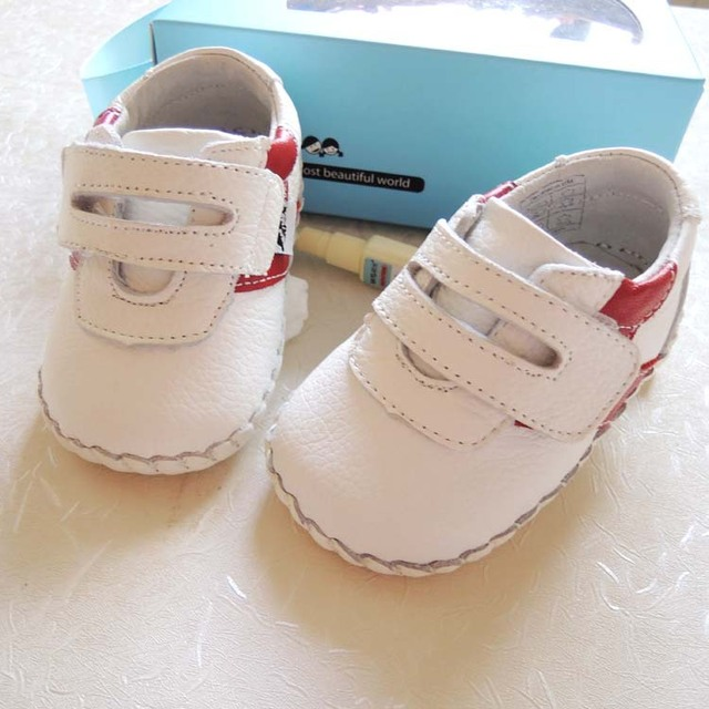 2017 Omn Brand Wholesale Genuine Leather Baby Shoes Non-slip Infant Toddler Shoes Baby Boys Girls Prewalkers Shoes