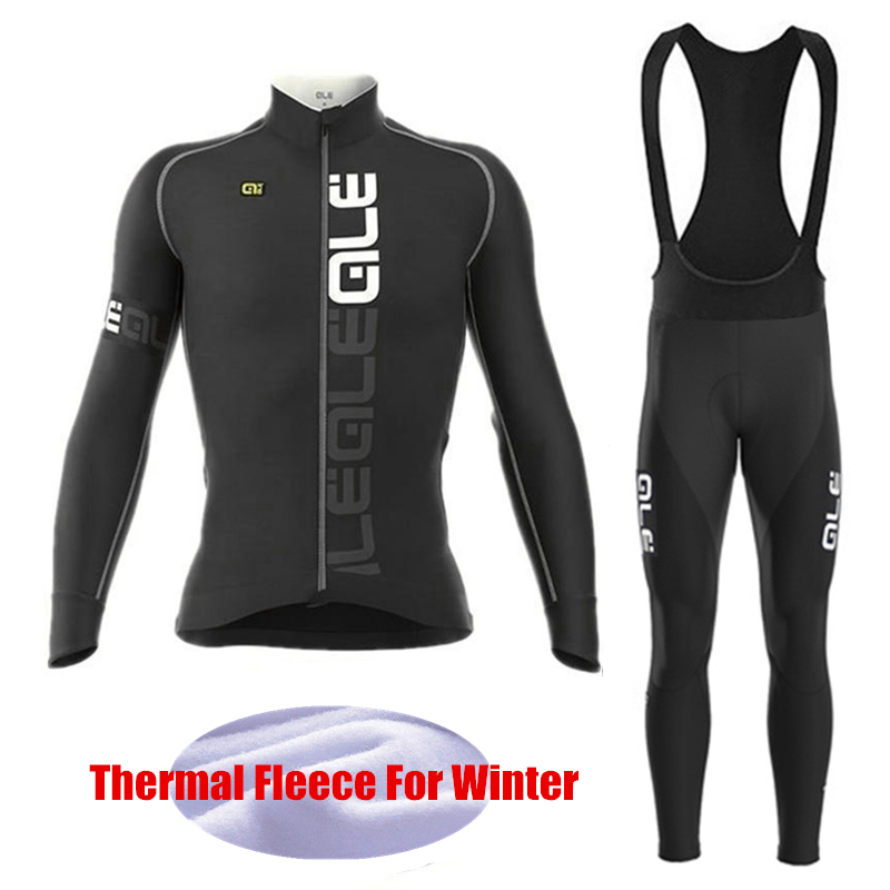 Pro Team font b Bicycle b font Racing Ropa Ciclismo invierno Long Sleeve Thermal Fleece font