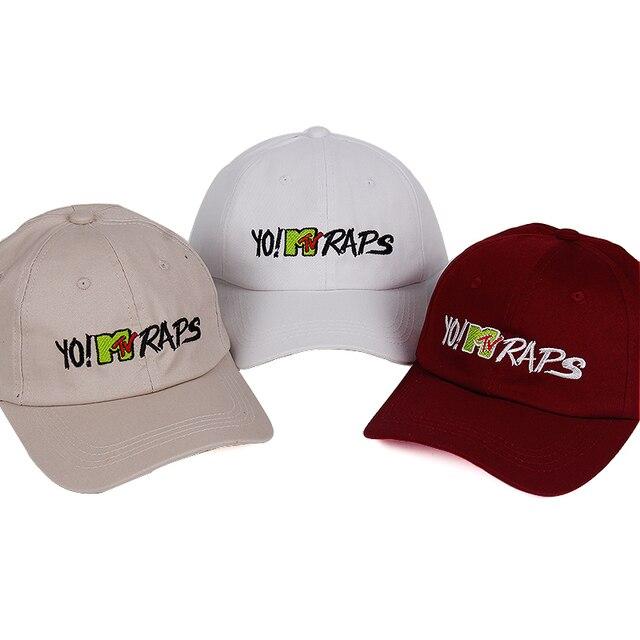 100% Cotton 2018 YO! MTV RAPS baseball cap casquette de marque gorras  planas dad ba1ed0d1e12f