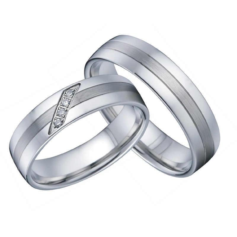 לא יימוג ברית חתונה טבעות לגברים ונשים אקו בריא titanium נירוסטה תכשיטי אהבת זוג טבעת סט לא חלודה