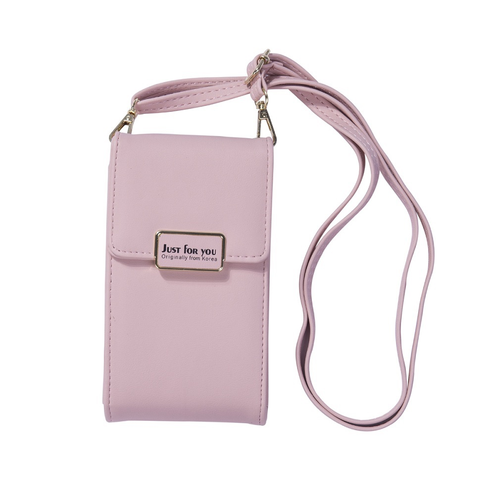 Women's fashion shoulder bag simple solid color long mobile phone bag Messenger bag mini handbag