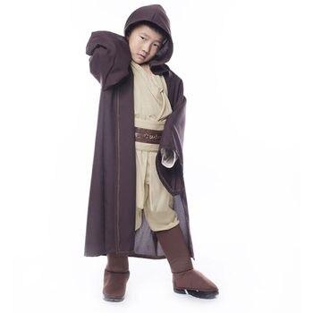 Star Wars Jedi Warrior Volledige Set Cosplay Kostuum Obi Wan Kenobi Kostuum Tuniek Voor Kinderen Kids Nieuwe