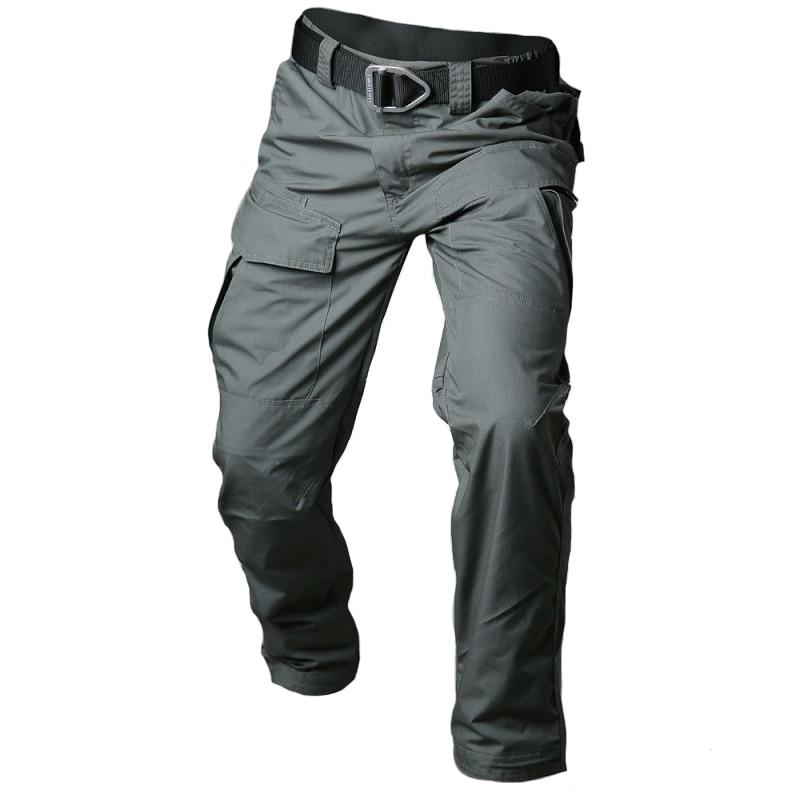 MEGE 2018City Tactical Cargo Pants Men Combat SWAT Army Military Pants Cotton Multi-pocket Stretch Flexible Man Casual Trousers