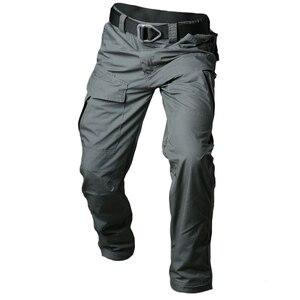 Image 1 - MEGE 2018City Tactical Cargo Pants Men Combat SWAT Army Military Pants Cotton Multi pocket Stretch Flexible Man Casual Trousers