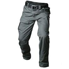 Mege 2018 cidade tático calças de carga dos homens combate swat exército militar calças de algodão multi bolso estiramento flexível homem casual
