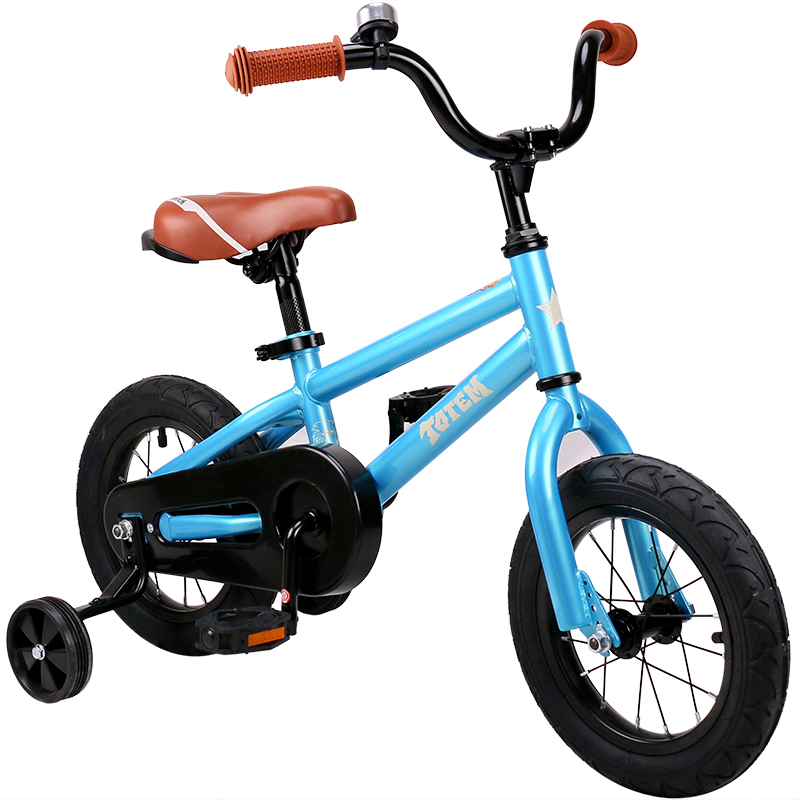 HTB14QGlb79WBuNjSspeq6yz5VXaw 12 Inch Kids Bike Totem DIY Blue Steel Kids Bike DIY Sticker Kids Bicycle with Detachable Training Wheels and Bell