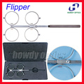 Free Shipping High Quality Adjustable PD Scale Copper 4-Lens Confirmation Test  Flipper Ophthalmic Flipper With Black Hard Case