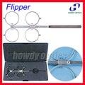 O Envio gratuito de Alta Qualidade De Cobre Escala PD Ajustável 4-Lens Teste De Confirmação Flipper Flipper Oftálmica Com Caixa Dura Preta