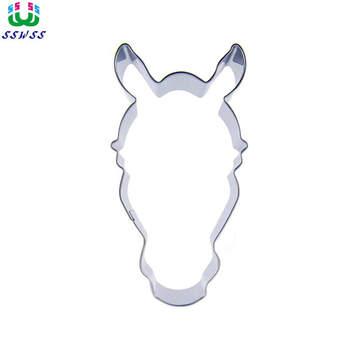 Potężna głowa konia kształt lukier dekoracyjny do ciasta narzędzia tnące, Halloween głowa zwierzęcia Cookie formy do pieczenia ciastek, sprzedaż bezpośrednia