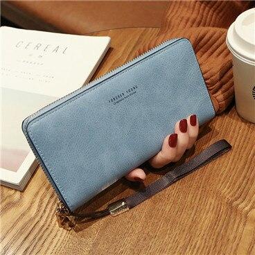 Женский кошелек, сумка для мобильного телефона, фирменный дизайн, Женский кошелек из искусственной кожи, длинные женские кошельки и кошельки, женский тонкий держатель для карт, кошелек - Цвет: dark blue