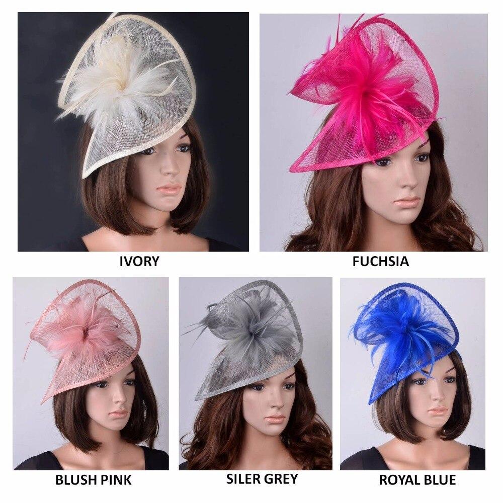 新しい hot 魅惑/sinamay 魅惑/sinamay 帽子特殊な形状での羽ヘアアクセサリー/レース/ 教会/結婚式/パーティー  グループ上の アパレル アクセサリー からの レディースヘアアクセサリー の中 1