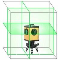 KaiTian зеленый лазерный уровень 12 линий 360 Поворотный приемник Электронный автоматический самовыравнивающаяся 3D лазерной Nivel 520nm линии лазеры