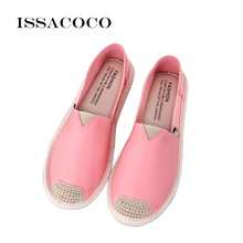 ISSACOCO Shoes Woman Platform Flat Women  Solid Color Breathable Comfortable Zapatos Mujer Sapato Feminino