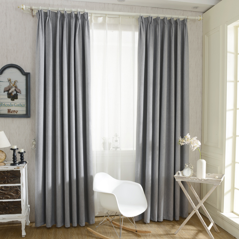 Hot Sale Solid Colors Blackout Curtains For The Bedroom