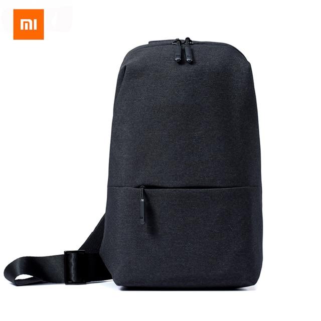 1b6f89a978a8f Original Xiaomi Mi Umhängetasche Einfache Brust Pack Männer Frauen Casual  Mini Tasche Mode Typ Rucksack Für