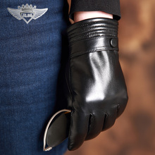 Limited Time  Mens High-Level Touch Screen Autumn & Winter Comfort Soft Genuine Leather Goat Skin Gloves Plus Velvet