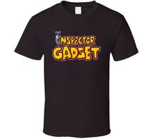Gildan Inspector Gadget 80's Cartoon camiseta-marrón para hombre Hipster o-cuello casual Cool Tops manga corta de algodón camiseta