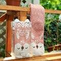 BIZHU Women Cotton Socks Autumn and winter Cute Animal Casual Knit Wool Long Socks length Warm