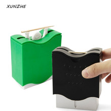 Creative  a strongman Plastic Automatic Toothpick Holder Box Dispenser Bucket Home Bar Table Accessories Popular