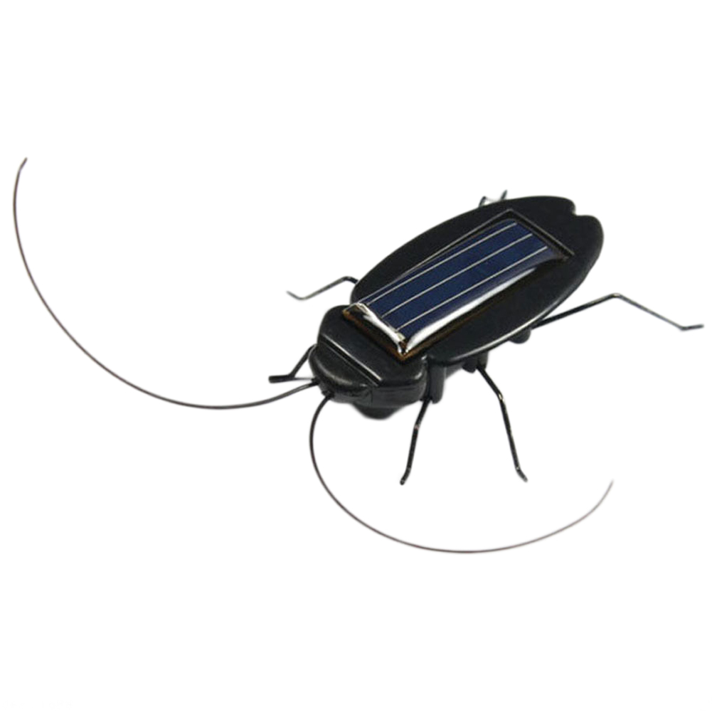 New Funny Jokes Solar Power Cockroach Insect Bug Teaching Toy Gift Baby Kids Plastic Insect Solar For Childred Toys