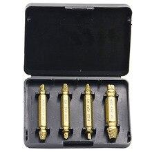 HSS 4341 sдвусторонний поврежденный шнековый экстрактор или сломанные головки поломки экстракторы экипажей деревянные болты для удаления экстракта сверла инструменты