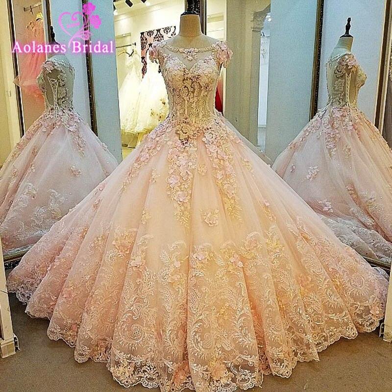 2017 New Design Luxury Vintage Sleeveless Wedding Dresses Princess Lace Appliques Bridal Bride Gowns robe de mariage Real Photos